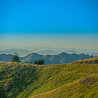 The California Coastal Ranges stretch north as seen from the slopes of Mount Tamalpais.