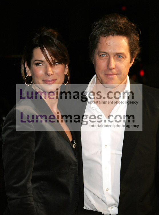 """Sandra Bullock and Hugh Grant attend the Los Angeles Premiere of """"Music and Lyrics"""" held at the Grauman's Chinese Theater in Hollywood, California on February 7, 2007."""
