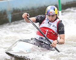 July 1, 2018 - Krakow, Poland - 2018 ICF Canoe Slalom World Cup 2 in Krakow. Day 2. On the picture: JESSICA FOX (Credit Image: © Damian Klamka via ZUMA Wire)