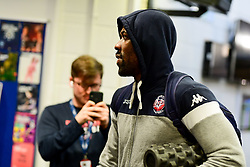 Raphell Thomas-Edwards of Bristol Flyers arrives at SGS Wise Arena prior to kick off  - Photo mandatory by-line: Ryan Hiscott/JMP - 17/01/2020 - BASKETBALL - SGS Wise Arena - Bristol, England - Bristol Flyers v London City Royals - British Basketball League Championship