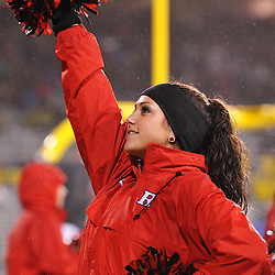 Oct 23, 2009; West Point, N.Y., USA; A member of the Rutgers Dance Team performs during Rutgers' 27 - 10 victory over Army at Michie Stadium.