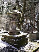 Japan, Tochigi, Nikko, Tosho-gu shrine Stone lantern