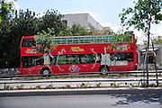 Israel, Jerusalem Double Decker Tourist Bus