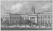 Asylum for Female Orphans, Westminster, engraving 'Metropolitan Improvements, or London in the Nineteenth Century' London, England, UK 1828 , drawn by Thomas H Shepherd