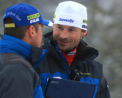 Uros Velepec and Matej Oblak at Men 20 km Individual at E.ON Ruhrgas IBU World Cup Biathlon in Hochfilzen (replacement Pokljuka), on December 18, 2008, in Hochfilzen, Austria. (Photo by Vid Ponikvar / Sportida)