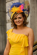 Karen Forde Claremorris at Hotel Meyrick in Eyre Sq. Galway for their best dressed Lady Competition during Galway's Race week . Photo:Andrew Downes.