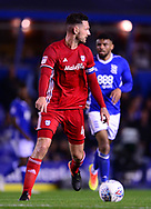 Sean Morrison of Cardiff City in action .EFL Skybet championship match, Birmingham city v Cardiff city at St.Andrew's stadium in Birmingham, the Midlands on Friday 13th October 2017.<br /> pic by Bradley Collyer, Andrew Orchard sports photography.