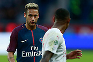 Paris Saint Germain's Brazilian forward Neymar Jr talks with Bordeaux's forward Malcom after the French Championship Ligue 1 football match between Paris Saint-Germain and Girondins de Bordeaux on September 30, 2017 at the Parc des Princes stadium in Paris, France - Photo Benjamin Cremel / ProSportsImages / DPPI
