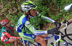 Franco Pellizotti of Italia (Liquigas) during 3rd stage of the 15th Tour de Slovenie from Skofja Loka to Krvavec (129,5 km), on June 13,2008, Slovenia. (Photo by Vid Ponikvar / Sportal Images)/ Sportida)