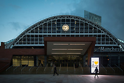 © Licensed to London News Pictures . 08/06/2017 . Manchester , UK . GV of the Manchester Central Convention Centre as the count for the constituencies of Blackley and Broughton, Manchester Central, Manchester Gorton, Manchester Withington and Wythenshawe and Sale East, in the General Election, gets underway at the Manchester Central Convention Centre . Photo credit : Joel Goodman/LNP