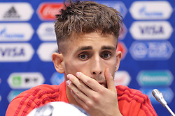 June 16, 2018 - Sochi, RUSSIA - Belgium's Adnan Januzaj pictured during a press conference of Belgian national soccer team the Red Devils in Sochi, Russia, Saturday 16 June 2018. The team is preparing for their first game at the FIFA World Cup 2018 next Monday. BELGA PHOTO BRUNO FAHY (Credit Image: © Bruno Fahy/Belga via ZUMA Press)