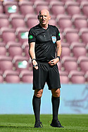 Referee Bobby Madden during the SPFL Championship match between Heart of Midlothian and Inverness CT at Tynecastle Park, Edinburgh Scotland on 24 April 2021.