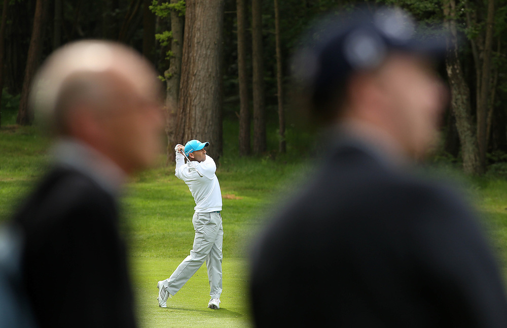 Spain's Sergio Garcia during the Pro Am.<br /> <br />  (Photo by James Marsh/CameraSport) <br /> <br /> Golf - 2014 BMW PGA Championship - Wentworth Club - Pro Am - Wednesday 21st May 2014 - Virginia Water, Surrey, England<br /> <br /> © CameraSport - 43 Linden Ave. Countesthorpe. Leicester. England. LE8 5PG - Tel: +44 (0) 116 277 4147 - admin@camerasport.com - www.camerasport.com