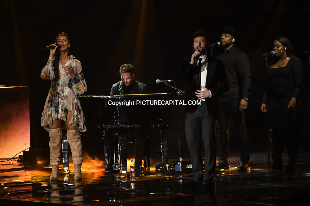 Leona Lewis and Calum Scott preforms at 2020 WE Day UK at Wembley Arena, London, Uk 4 March 2020.