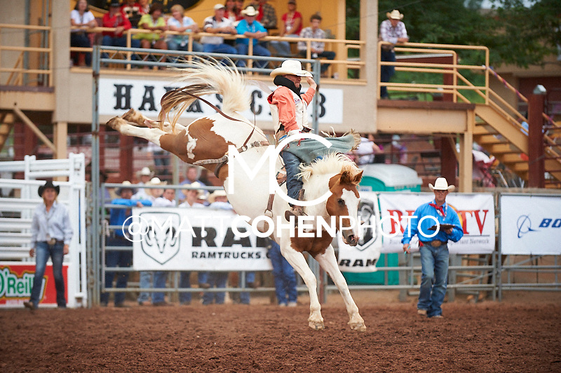 Bareback rider Seth Hardwick of Laramie, WY rides Little Linda at the Pikes Peak or Bust Rodeo in Colorado Springs, CO.<br /> <br /> <br /> UNEDITED LOW-RES PREVIEW<br /> <br /> <br /> File shown may be an unedited low resolution version used as a proof only. All prints are 100% guaranteed for quality. Sizes 8x10+ come with a version for personal social media. I am currently not selling downloads for commercial/brand use.