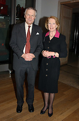 SIR ANTHONY & LADY FIGGIS he is Her Majesty's Marshal of Diplomatic Corps at an exhibition of art entitled 'Royal Academicians in China: 2003-2005' held at the Royal Academy of Arts, Burlington House, Piccadilly, London on 11th January 2005.<br /><br />NON EXCLUSIVE - WORLD RIGHTS