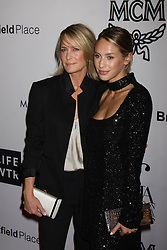 Robin Wright and her daughter Dylan Frances Penn at The Daily Front Row's Fashion Media Awards in New York City.