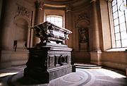 The ornate tomb of Joseph Bonaparte, the elder brother of Napoleon, in The Invalides, Paris