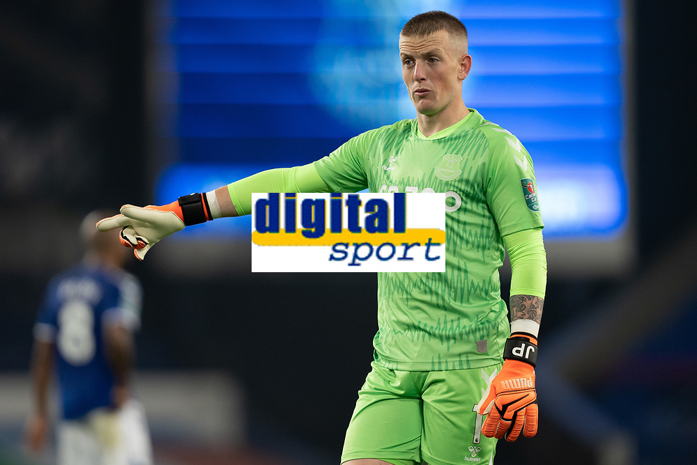Football - 2020 / 2021 League (Carabao) Cup - Round 4 - Everton vs West Ham United - Goodison Park<br /> <br /> Everton's Jordan Pickford <br /> <br /> COLORSPORT/TERRY DONNELLY