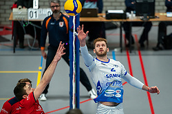 Luke Herr #2 of Lycurgus in action during the league match Taurus - Amysoft Lycurgus on January 16, 2021 in Houten.