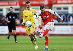 James Husband of Fleetwood Town clears the ball - Mandatory by-line: Matt McNulty/JMP - 27/04/2019 - FOOTBALL - Highbury Stadium - Fleetwood, England - Fleetwood Town v Bristol Rovers - Sky Bet League One