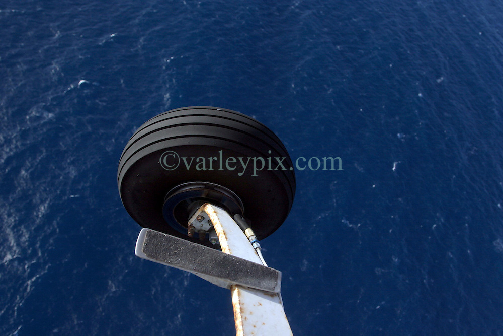 05 April 2011. St Maarten, Antilles, Caribbean.<br /> One of the landing wheels of our 1962 Cessna aircraft.<br /> Photo; Charlie Varley/varleypix.com