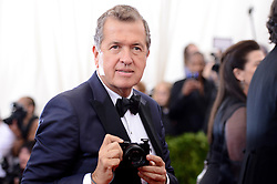 File photo : Mario Testino attends the China: Through The Looking Glass Costume Institute Benefit Gala at Metropolitan Museum of Art on May 4, 2015 in New York City, NY, USA. Photographer to the stars Mario Testino is a favourite of the Royal Family but he is facing a stream of sexual misconduct allegations from male models. Fashion brands Burberry and Michael Kors moved quickly to cut ties with him. He had been a front-runner to be the official photographer at the wedding of Prince Harry and Meghan Markle but has been ruled out following the uproar. Photo by Lionel Hahn/ABACAPRESS.COM