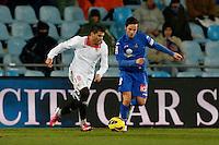19.01.2013 SPAIN -  La Liga 12/13 Matchday 20th  match played between Getafe C.F. vs Sevilla Futbol Club (1-1) at Alfonso Perez stadium. The picture show Pablo Sarabia Garcia (Midfielder of Getafe)