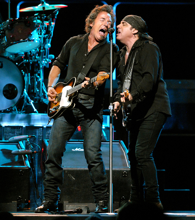 10/2/07 2Boss<br /> Hartford Civic Center: Bruce Springsteen left and Steven Van Zandt in concert. Photo by Mara Lavitt