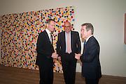 SIR NICHOLAS SEROTA; JAKE SHAFRAN; LORD BROWNE, Damien Hirst, Tate Modern: dinner. 2 April 2012.