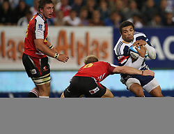 Bryan Habana almost gets through a gap during the Super Rugby (Super 15) fixture between the DHL Stormers and the Lions held at DHL Newlands Stadium in Cape Town, South Africa on 26 February 2011. Photo by Jacques Rossouw/SPORTZPICS