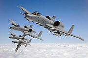 A-10 flight formation, breaking away