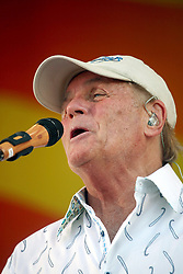 27 April 2012. New Orleans, Louisiana,  USA. .New Orleans Jazz and Heritage Festival. .The Beach Boys take to the stage to kick off their 50th anniversary tour. Bruce Johnston on stage..Photo; Charlie Varley.