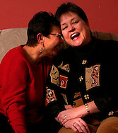 Maria Perez (left) and Nancy Brink are helping to bring a challenge to the Nebraska constitutional amendment that bars any type of protection for same sex relationships.. (photo by Chris Machian/Prairie Pixel Group).