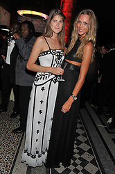 Left to right, PRINCESS FLORENCE VON PREUSSEN and LISA HENRIKSON at The Global Party held at The Natural History Museum, Cromwell Road, London on 8th September 2011.