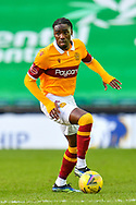 Devante Cole (#44) of Motherwell FC during the SPFL Premiership match between Hibernian FC and Motherwell FC at Easter Road, Edinburgh, Scotland on 27 February 2021.