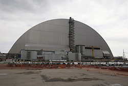 April 26, 2017 - Chernobyl, Ukraine - View of the new Safe Confinement over the 4th block of the Chernobyl nuclear plant,during the 31st anniversary of the Chernobyl disaster, Ukraine, 26 April, 2017. (Credit Image: © Str/NurPhoto via ZUMA Press)