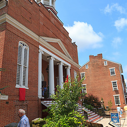 Gettysburg, PA, USA - June 30, 2013:  The Christ Lutheran Church, located on Chambersburg Street in Gettysburg.