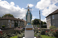 Religious Statue of Virgin Mary in a housing estate at Monkstown Farm, Dublin, Ireland