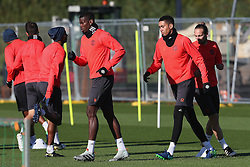 Paul Pogba of Manchester United trains - Mandatory by-line: Matt McNulty/JMP - 19/10/2016 - FOOTBALL - Manchester United - Training session ahead of Europa League game against Fenerbahce