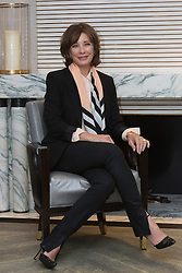 "© Licensed to London News Pictures. 9 April 2014. London, England. American actress Anne Archer poses at a photocall to promote the UK debut of her new play ""The Trial of Jane Fonda"". The play, written by her husband Terry Jastrow, will have its world premiere at the Edinburgh Festival Fringe in 2014. The play deals with Jane Fonda's controversial effort to end the Vietnam War. Photo credit: Bettina Strenske/LNP"