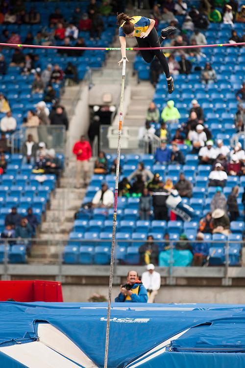 adidas Grand Prix Diamond League professional track & field meet: womens pole vault, Fabiana MURER, Brazil