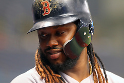 May 22, 2018 - St. Petersburg, FL, U.S. - ST. PETERSBURG, FL - MAY 22: Hanley Ramirez (13) of the Red Sox looks into the Red Sox dugout during the MLB regular season game between the Boston Red Sox and the Tampa Bay Rays on May 22, 2018, at Tropicana Field in St. Petersburg, FL. (Photo by Cliff Welch/Icon Sportswire) (Credit Image: © Cliff Welch/Icon SMI via ZUMA Press)