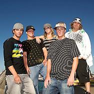 Brian Grubb, JD Webb, Dallas Friday, Adam Errington, Parks Bonifay for Redbull Wakeboard shoot in the Florida Keys