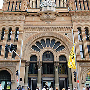 George Street entrance to Sydney's Queen Victoria Building shopping arcade