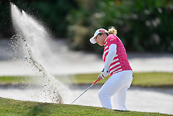 January 19, 2019 - Lake Buena Vista, FL, U.S. - LAKE BUENA VISTA, FL - JANUARY 19: Ariya Jutanugarn of Thailand plays out of the sand on hole 3 during the third round of the Diamond Resorts Tournament of Champions on January 19, 2019, at Tranquilo Golf Course at Fours Seasons Orlando in Lake Buena Vista, FL. (Photo by Roy K. Miller/Icon Sportswire) (Credit Image: © Roy K. Miller/Icon SMI via ZUMA Press)
