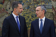 012518 King Felipe of Spain attends an audience with NATO General Secretary
