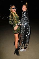 Poppy Delevingne and Paris Hilton at The Neon Carnival - 14 April 2019