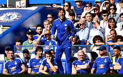 Chelsea manager Antonio Conte gestures on the touchline during the Premier League match at Stamford Bridge, London.