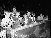 08.09.1984<br /> 09.08.1984.<br /> 8th September 1984.<br /> Chipperfield's circus performed before packed houses in Mullingar, Co Westmeath.<br /> <br /> Picture shows that even ice cream can't take away the childrens' attention as eyes bulge in anticipation.